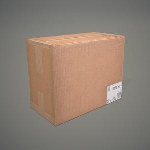 3d model cardboard box