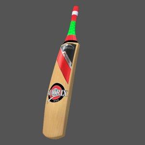 3d cricket bat