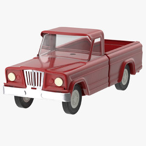 3d model toy truck 02
