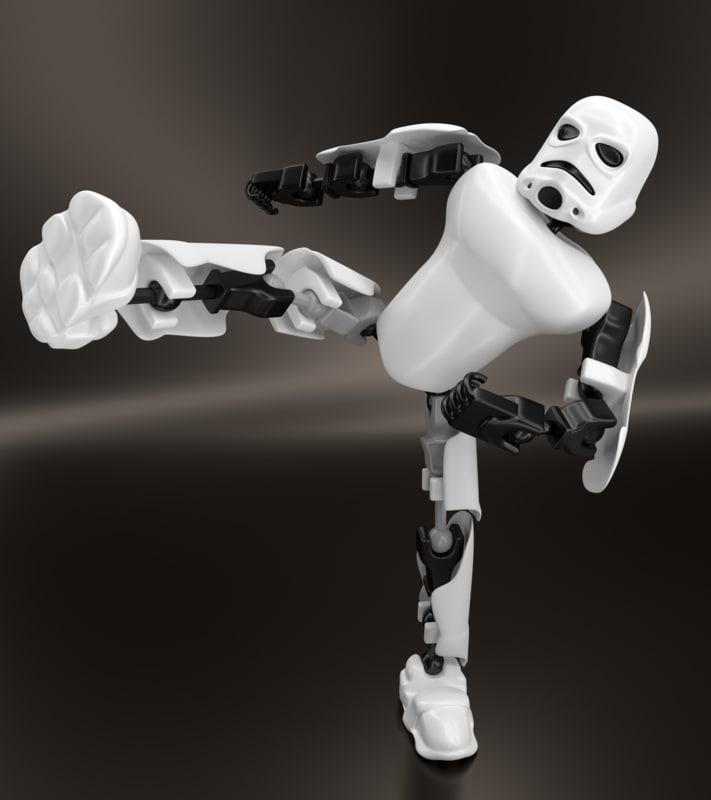 3d obj lego stormtrooper