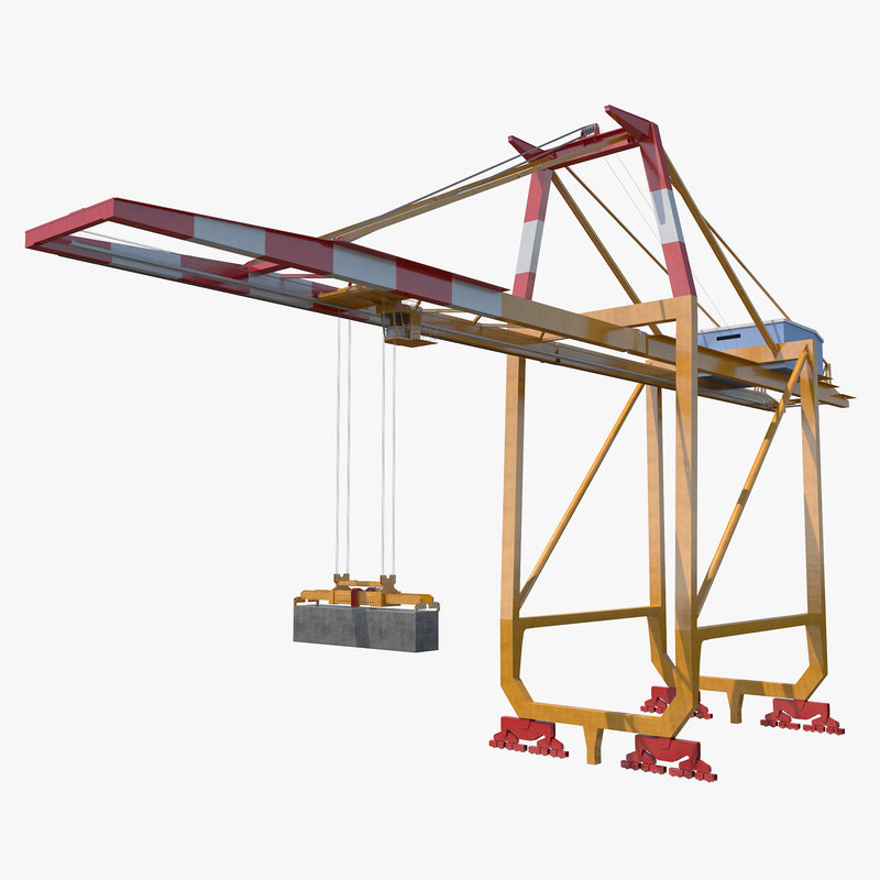 container crane v3 3d max