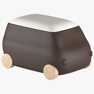 3d model toy container plust van