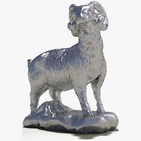 decorate sculpture animal 6 3d max