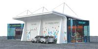 3d ev solar charging station