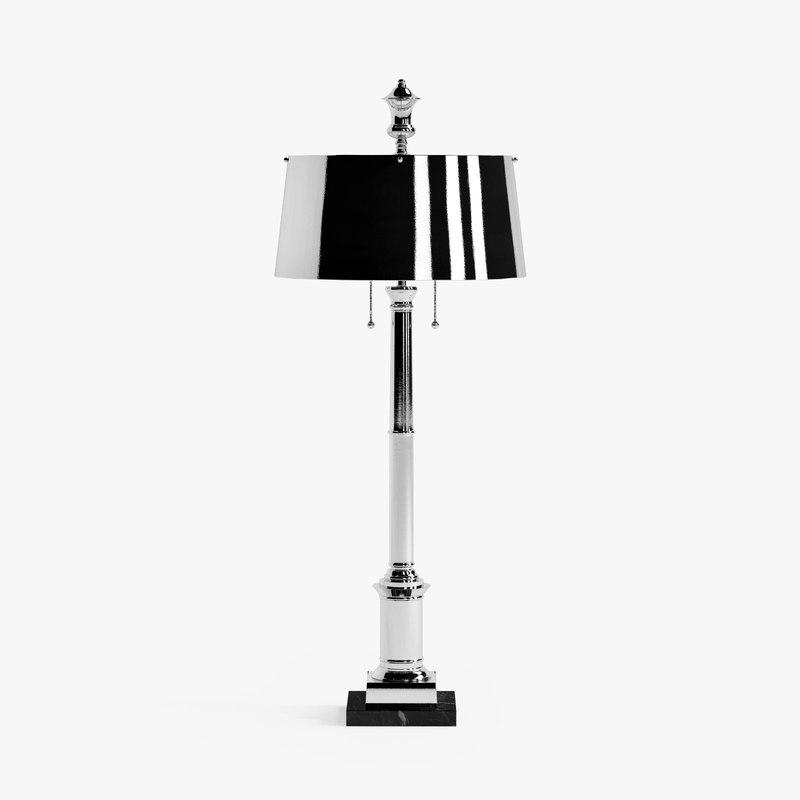 global library lamp-nickel 3d max