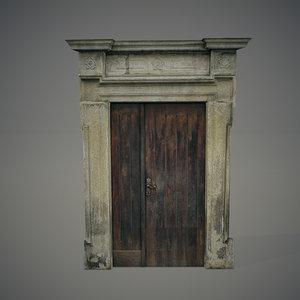 blend old wooden door