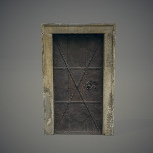 3ds max old metal door