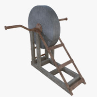 3d model of subdivision grindstone