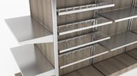 modular store shelving retail 3d max