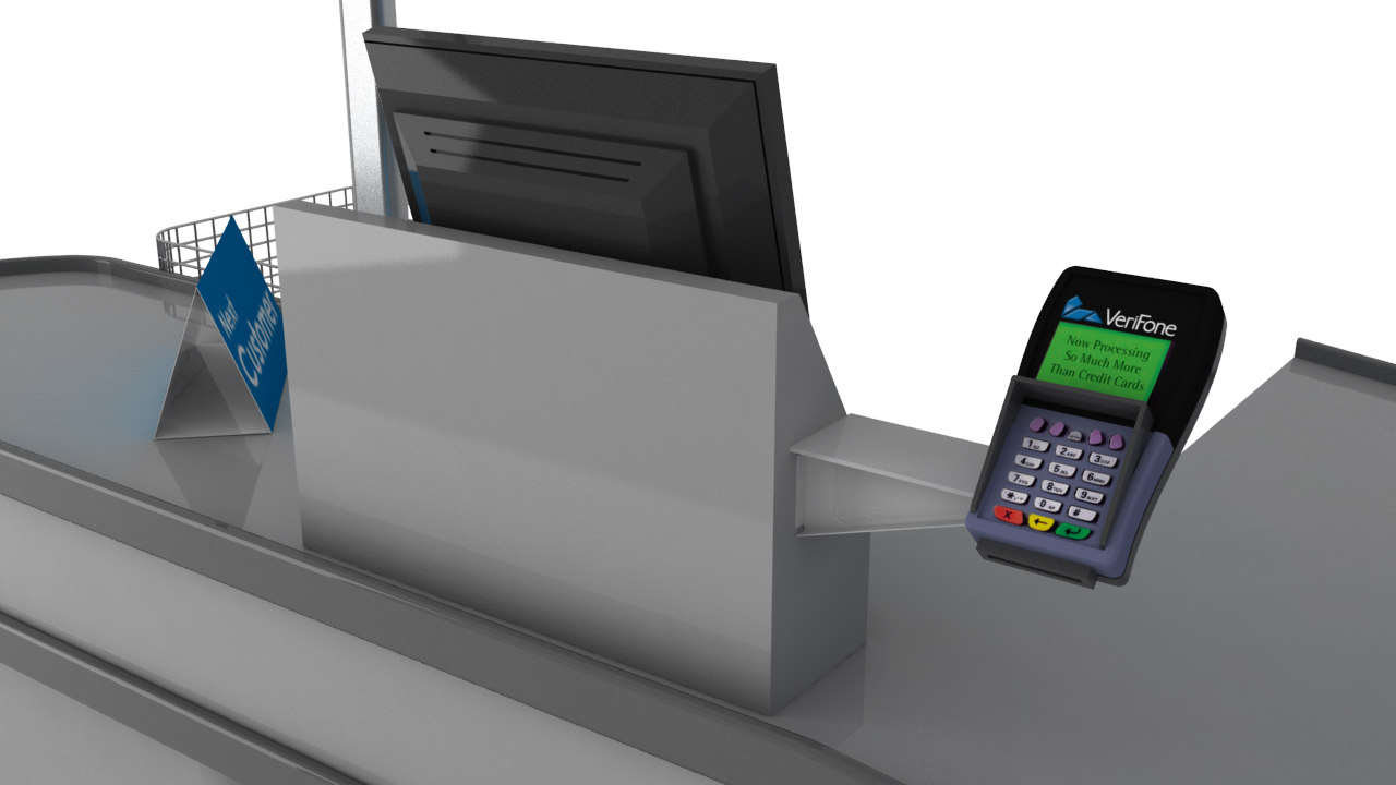 checkout counter card swipe 3ds