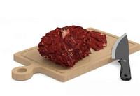 3d kitchenware knife meat