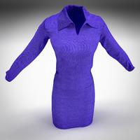 women suit 3d model