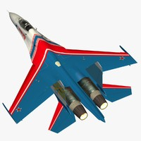 3d sukhoi russian knights
