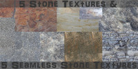 5 Seamless and 5 Stone Textures