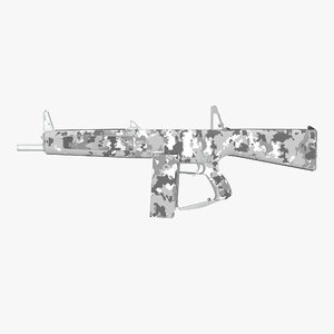 3d model combat shotgun aa-12