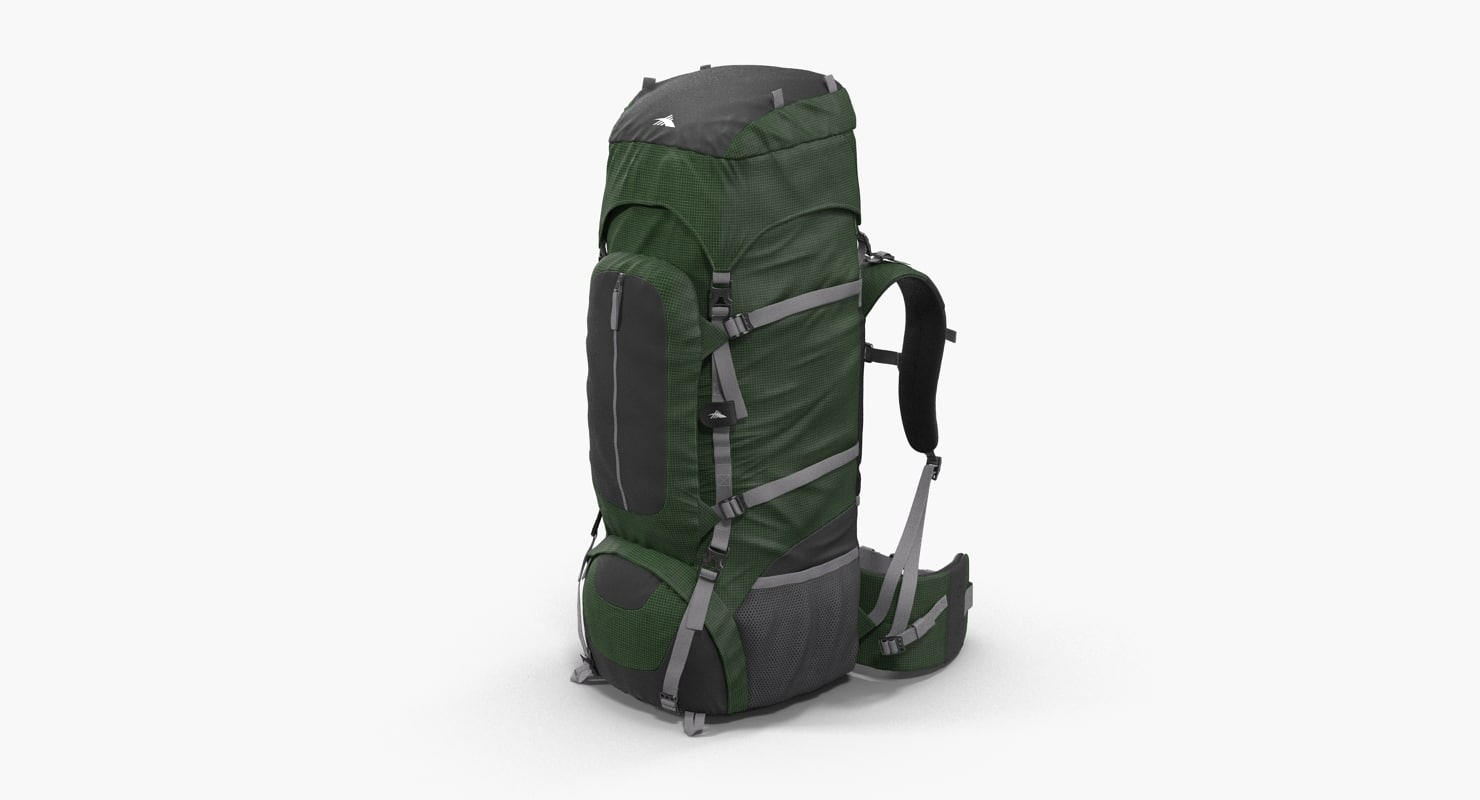 3d large camping backpack green