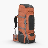 large camping backpack red obj