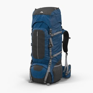 large camping backpack 3d model