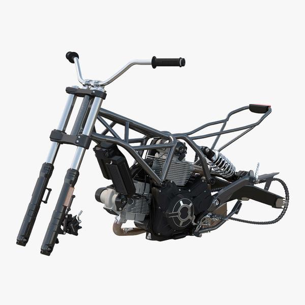 3d motorcycle engine frame model