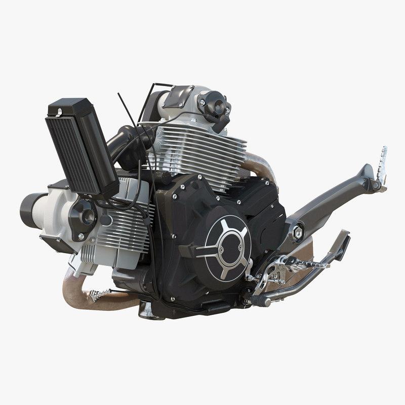 3d motorcycle engine model
