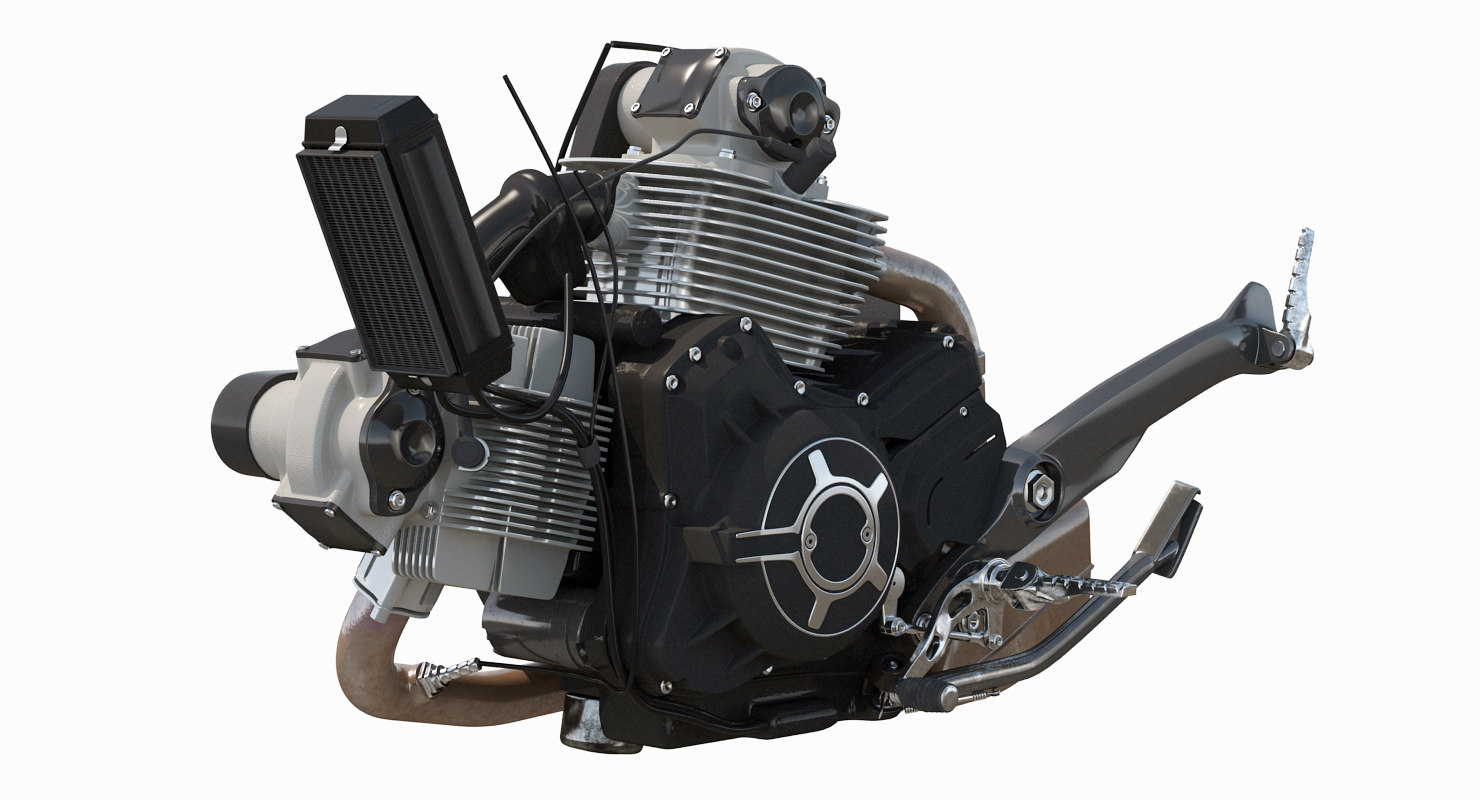 3d motorcycle engine model