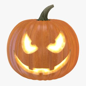 3d halloween pumpkin 3 model