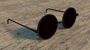 black sunglasses 3d blend