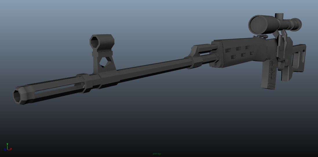 3d model svd dragunov sniper rifle