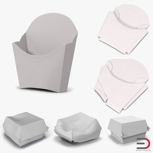 3d c4d food containers