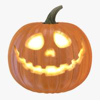 halloween pumpkin 3d obj