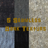 5 Seamless Bark Textures