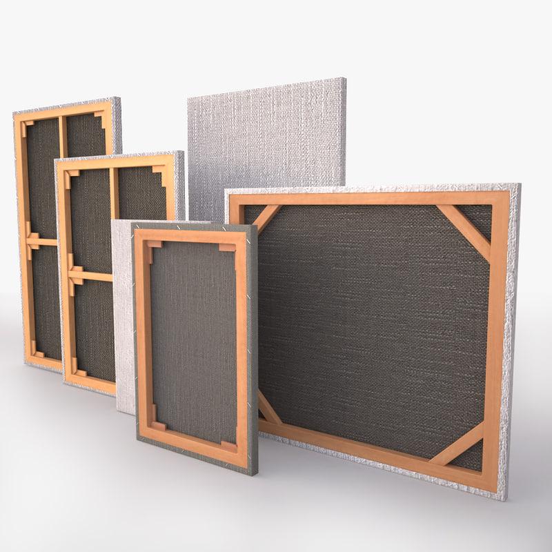 3d model canvas art supplies