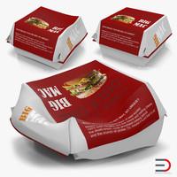 burger boxes 3d max