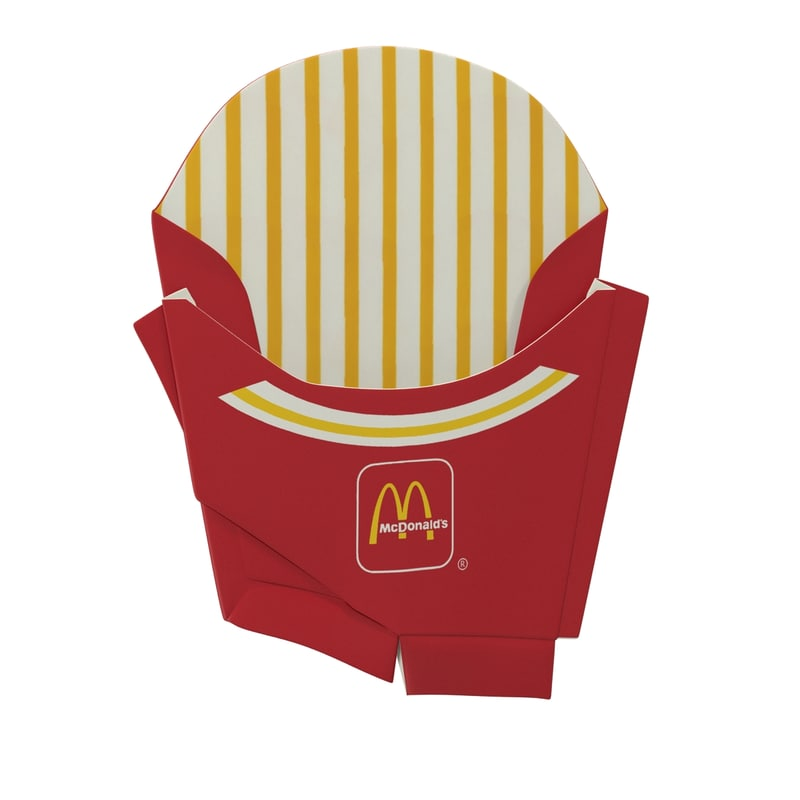 french fry boxes mcdonalds