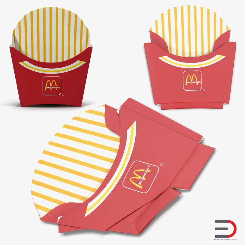 3ds french fry boxes mcdonalds