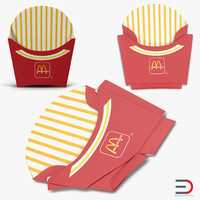 3d model french fry boxes mcdonalds