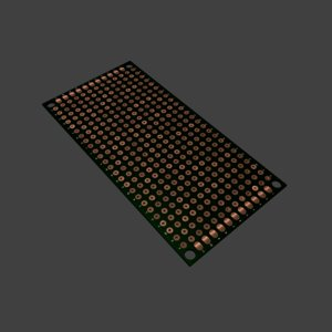 3d protoboard circuit board component model
