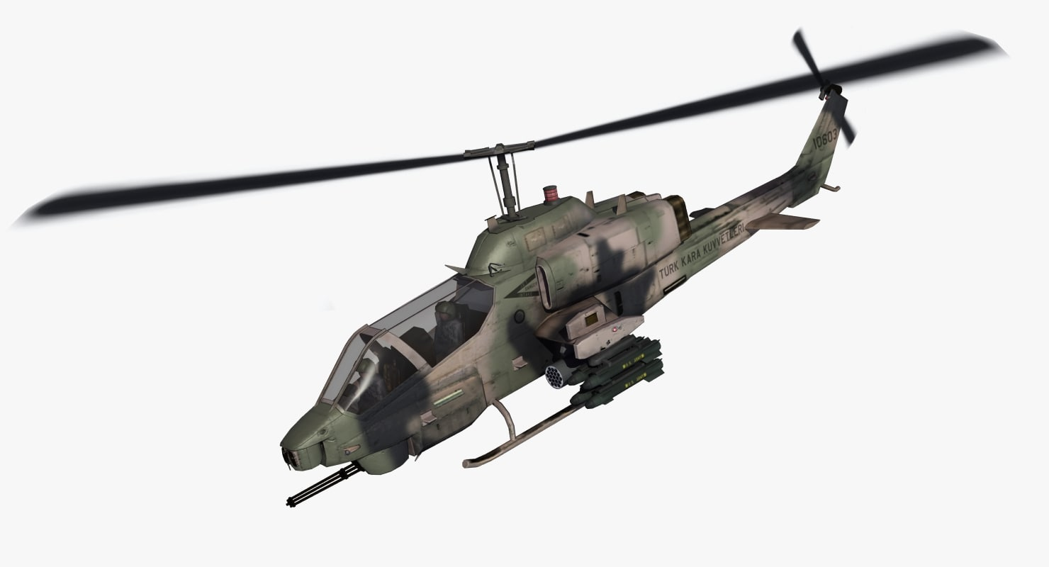 max ah1w cobra attack helicopter