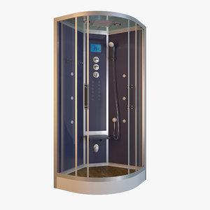 shower steam cabine 3d model
