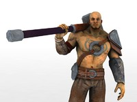 3d fantasy warrior man character
