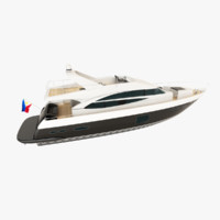 princess 72 motor yacht 3d model