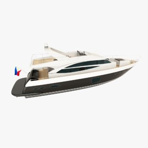 princess 72 motor yacht 3d model