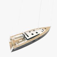 3d sense 55 sailboat