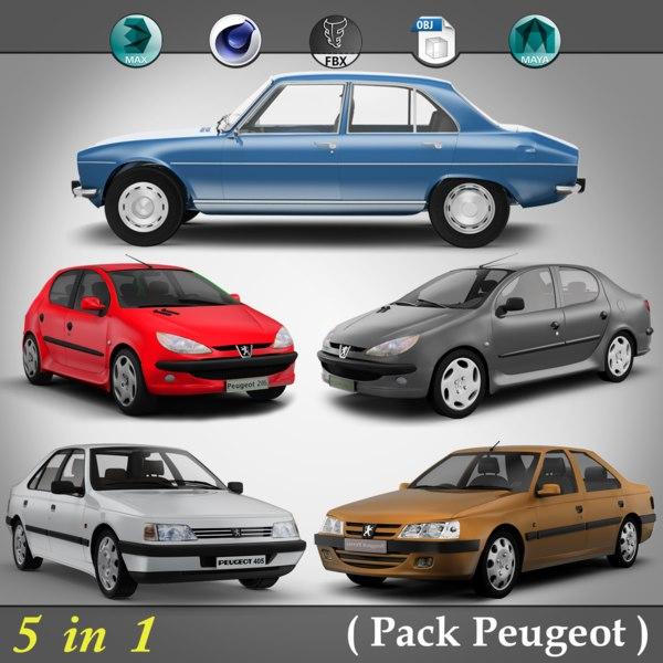 3d model 5 1 pack peugeot