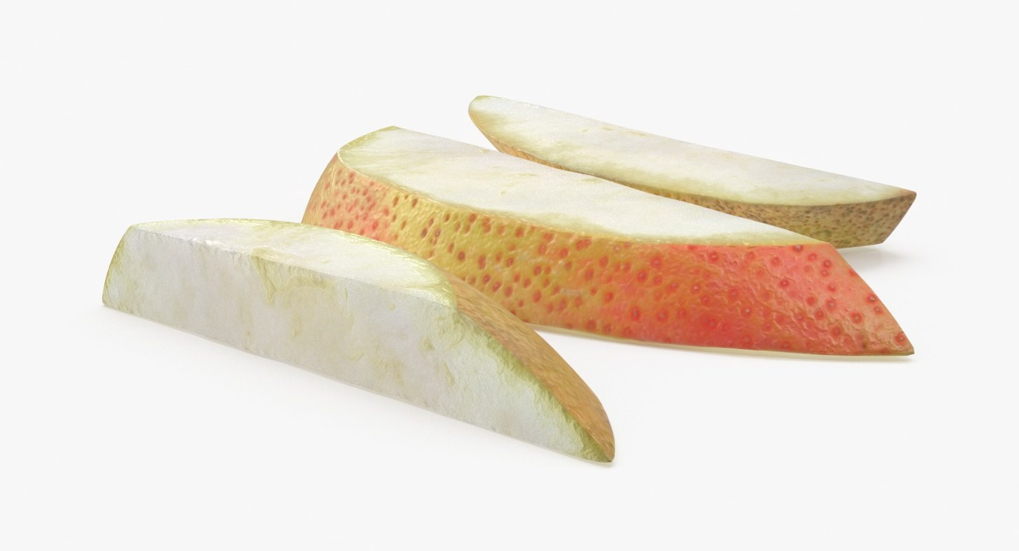 3d pear slice