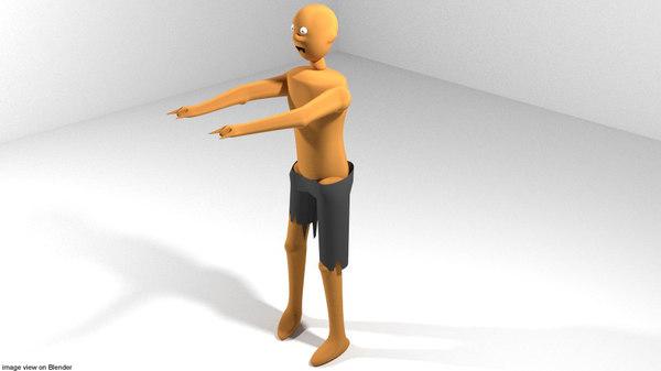 3d model character horror zombie