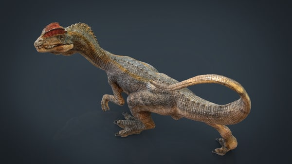 hd dilophosaurus 3d max