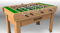 spanish foosball 3d model
