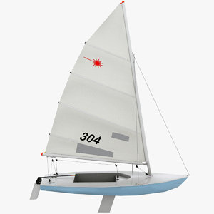 obj laser sailboat