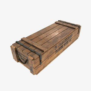 3d model of army wood box wooden crate